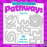 Pathways for Worksheet Design | Maze Clip Art