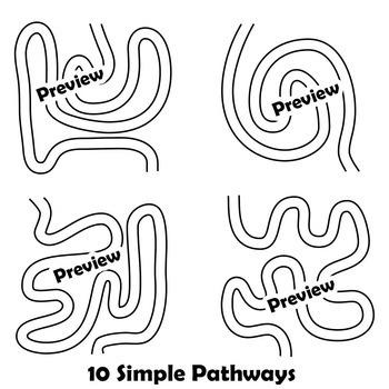 Pathways for Worksheet Design | Maze Clip Art