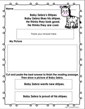 Reading comprehension passages and questions! Pathways! Book Activity