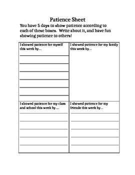Patience Homework Practice