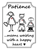 """""""Patience means..."""" Poster"""