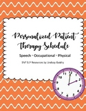 Patient Therapy Schedule