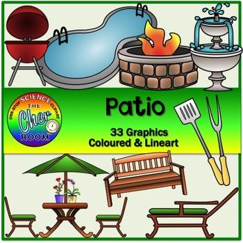 Patio Clipart (Garden, Balcony, Porch) (My Home Series 2)