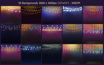 Patio Lights Clipart and Backgrounds.