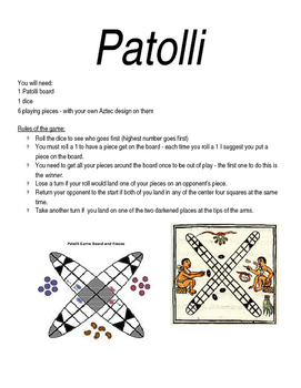 Patolli Game Rules