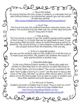 Patricia Polacco Author Study (9 activities)