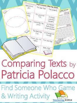 Patricia Polacco Author Study {NO PREP Writing Activities & Game}