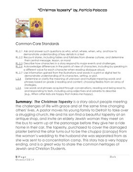 """Patricia Polacco """"Christmas Tapestry"""" Text Talk and lesson plan"""