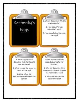 Patricia Polacco RECHENKA'S EGGS - Discussion Cards