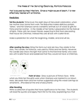 """Patricia Polacco """"The Trees of the Dancing Goats"""" Text Talk and lesson plan"""