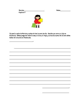 Patricia va a California chapters 5-8 bundle lessons,activities,worksheets
