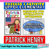 Patrick Henry Biography Reading Passage: American Revolution