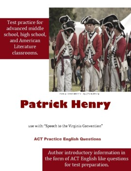 Patrick Henry ACT English Practice Questions