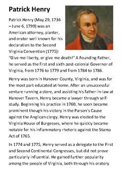 Patrick Henry Handout