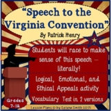 """Patrick Henry """"Speech to the Virginia Convention"""""""