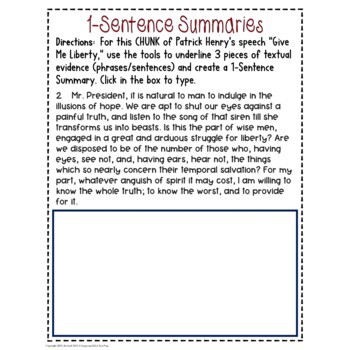 Patrick Henry's Give Me Liberty Speech Common Core Test Prep Quiz & Activities
