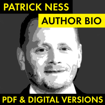 Patrick Ness Author Study Worksheet, Easy Biography Activity, CCSS