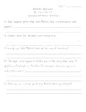 Patrick's Dinosaurs comprehension worksheet/quiz