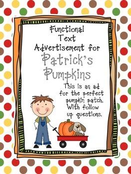 Patrick's Pumpkins Functional Text