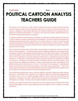 Patriot Act - Political Cartoon Analysis (Guide, Organizer, Assignment, etc.)