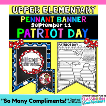 Patriot Day Activity Banner: September 11 Activity: 9/11