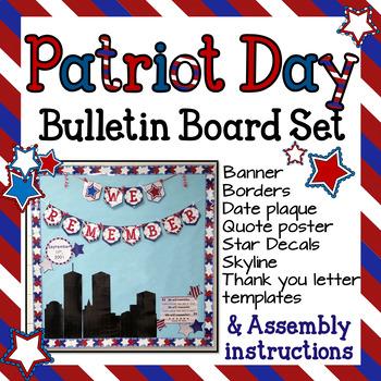 Patriot Day September 11th Bulletin Board Set 9 11 September B B