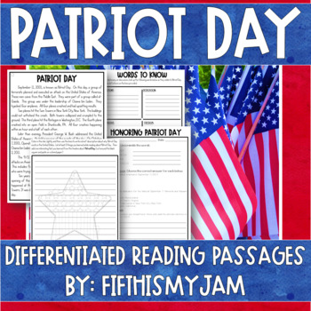 Patriot Day Differentiated Reading Passages