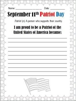 Patriot Day - 3 Elementary Activities