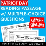 Patriot Day Reading Comprehension Passage