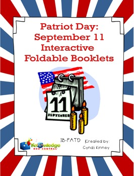 Patriot Day:  September 11 Interactive Foldable Booklets - EBOOK