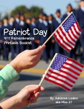 Patriot Day 9/11 printable book for primary grades September 11