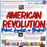 American Revolution Lesson - Patriot, Loyalist, or Neutral?