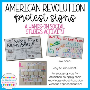 Patriot Protest Signs: American Revolution FREEBIE