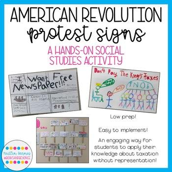 Patriot Protest Signs: American Revolution FREEBIE