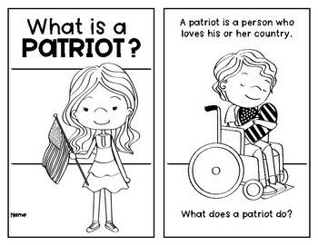 Patriot Reader {Social Studies Patriotism} for Kindergarten & First Grade