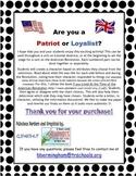 Patriot or Loyalist - You Choose