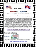 Patriot or Loyalist - You Choose