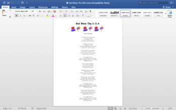 Patriot Day 9/11 PowerPoint & Patriotic Song Lyrics