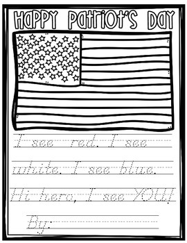 Patriot's Day Poem FREEBIE