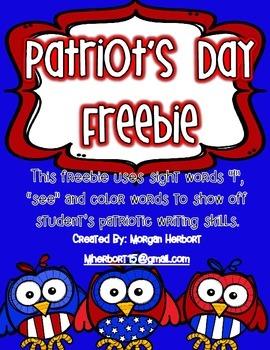 Patriot's Day Poem FREEBIE