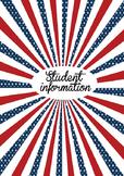 Patriotic 2016-2017 teacher binder