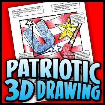 Patriotic 3D Drawing - Basic Three-Dimensional Techniques