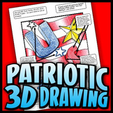Patriotic 3D Drawing - Basic Three-Dimensional Techniques
