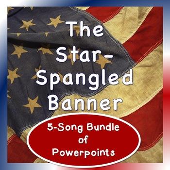 Patriotic 5-Song Powerpoint Bundle