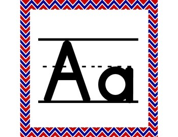Patriotic ABC Word Wall Letters