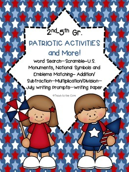 """2nd-5th Grade """"American Symbols, Monuments, Emblems and More!"""""""