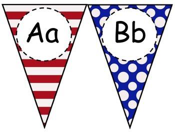 Patriotic Alphabet Pennant