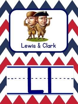 Patriotic Alphabet in CHEVRON