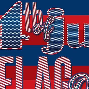 Patriotic Alphabets Art/ 3 typefaces. 3 styles. 3 dollars. 201 pieces of art!!