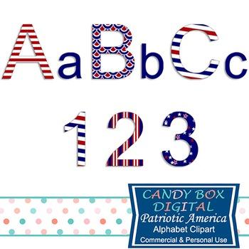 Patriotic America Alphabet